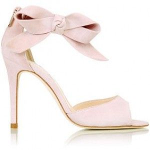 LKBennett Agata Oversized Bow Sandals Pink ShoesWedding