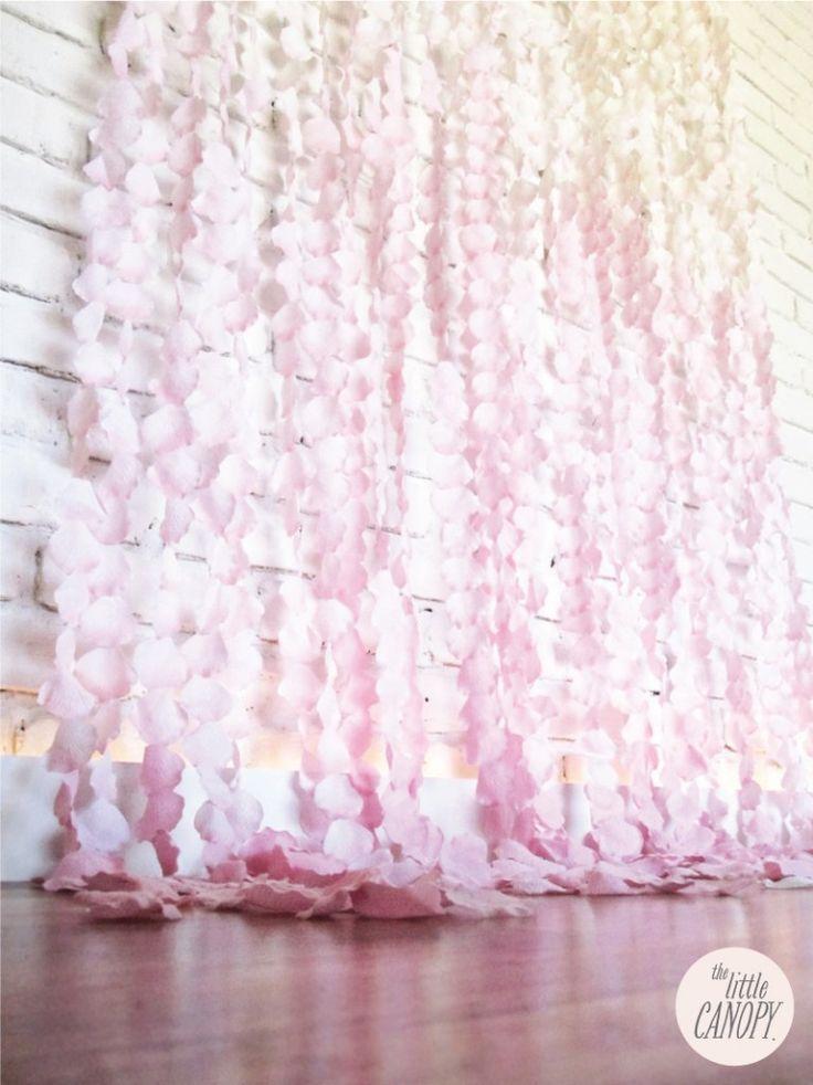 Flower Petal Curtain Backdrop