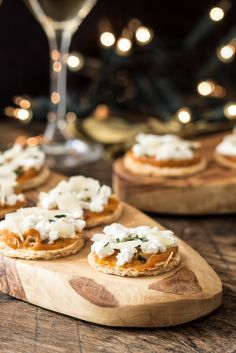 Tom Aikens' mini tart recipe makes a perfect party canapé, with a crisp puff pastry base topped with a lightly spiced, sweet pumpkin purée and creamy ricotta cheese.