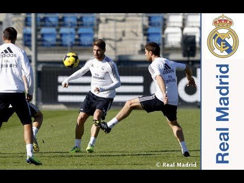 Real Madrid  Ramos se incorporó al grupo en la última sesión previa al partido ante el Sevilla