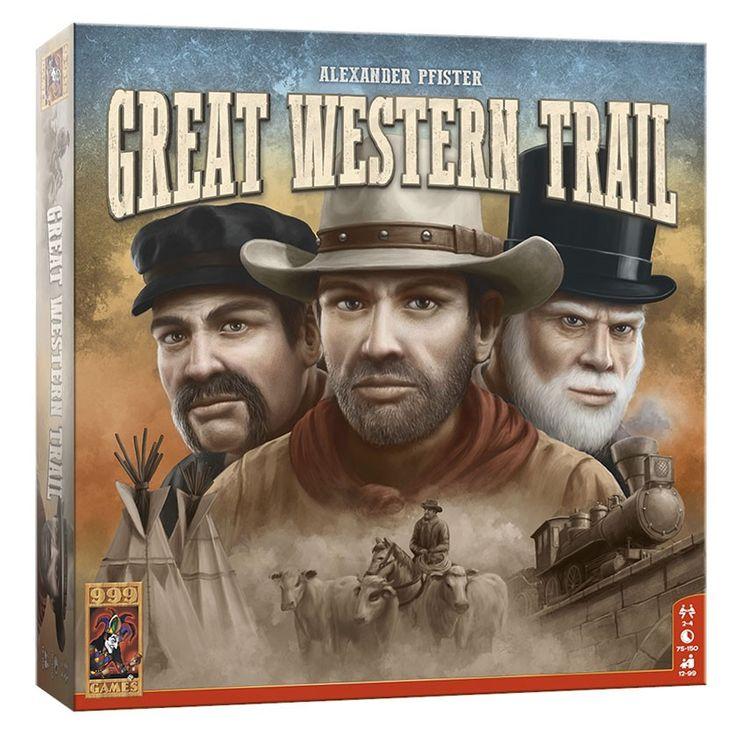 Great Western Trail is een strategisch familiespel vol uitdagingen. Drijf als een echte rancher je kudde runderen van Texas naar Kansas City. Houd de dieren in goede conditie en benut de route verstandig. Met de juiste hulp van cowboys, ambachtslieden en ingenieurs kun je de kudde veilig overbrengen. Durf jij de uitdaging aan? Afmeting: verpakking 29,5 x 29,5 x 7,5 cm - Great Western Trail