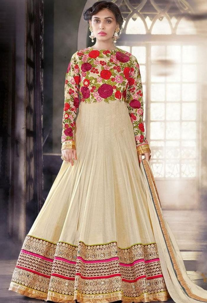 Beige Designer Salwar Kameez made with Santoon & Georgette Fabric..@ fashionsbyindia.com #designs #indian #fashion #womens #style #cloths #clothes #stylish #casual #fashionsbyindia #punjabi #suits #wedding #saree #chic #elegance #beauty #outfits #fantasy #embroidered #dress #PakistaniFashion #Fashion #Longsuit #FloralEmbroidery #Fashionista #Fashion2015 #IndianWear #WeddingWear #Bridesmaid #BridalWear #PartyWear #Occasion #OnlineShopping #salwarkameez