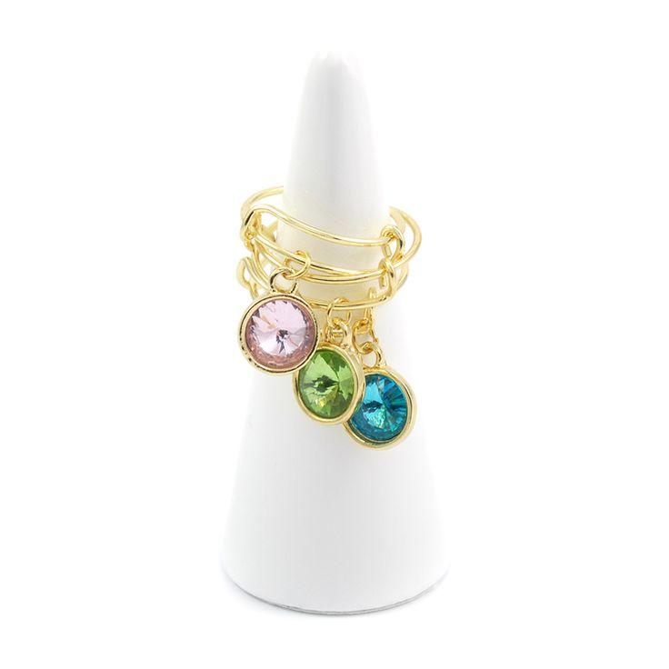 Kolekcja Glamour pierścionki z zawieszkami