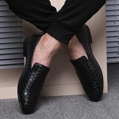 Simple Anyaman Pattern Men Loafers   – jmatt video