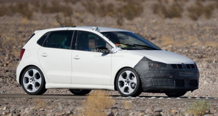 """..Polo hatchbacks have begun testing in Death Valley in preparation, indicating a facelift model.. is being developed and will be launched."""