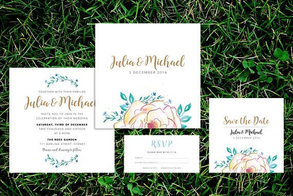 Spring Wedding Invitation Suite – Printable