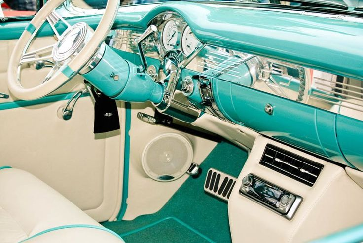 Interior of Chevrolet BelAir Blue & White 8x10 Fine Art Photograph, Other Sizes Available. $25.00 USD, via Etsy.