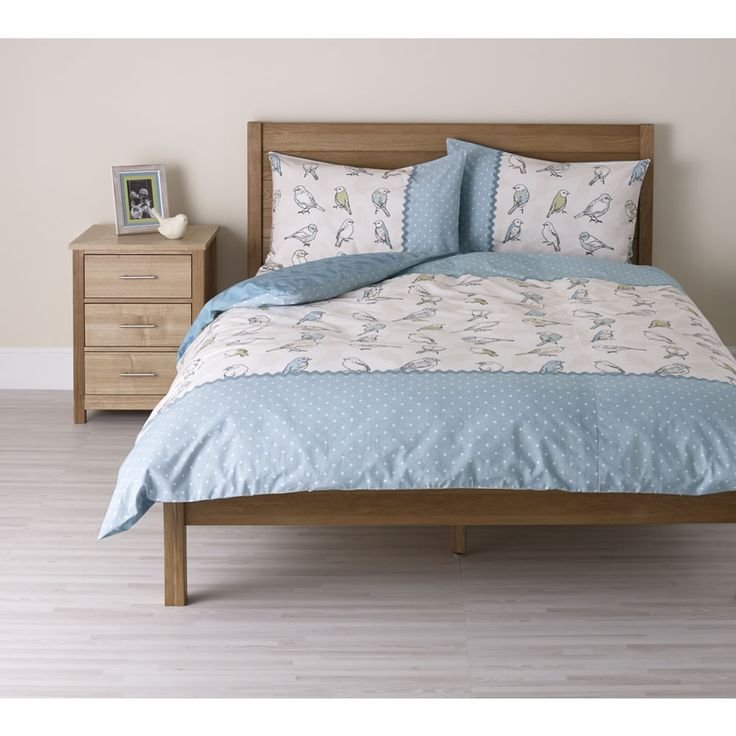 Wilko Ditsy Duvet Set Bird Kingsize
