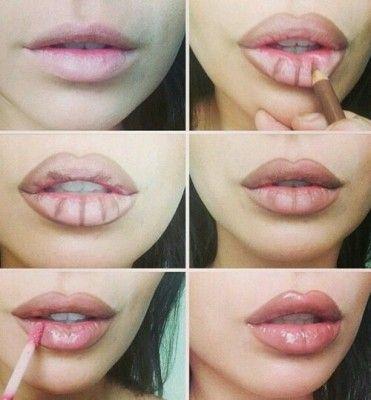 labios-carnosos-en-simples-pasos-¿Cómo maquillar los labios para que parezcan más grandes?