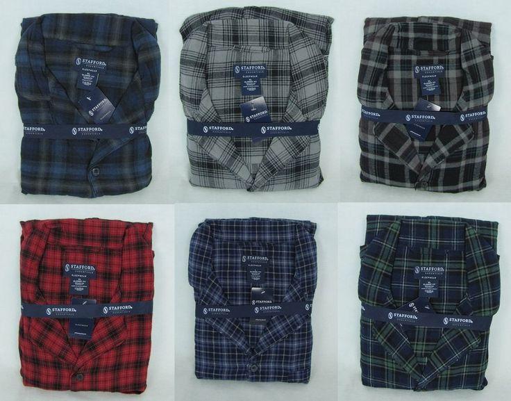 Stafford Essentials Men's Flannel Pajama Set Size's:  XXL NEW #Stafford #PajamaSets 27.00
