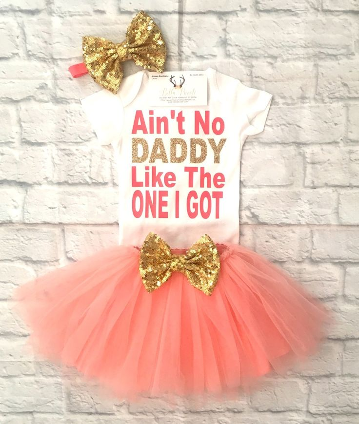 Baby Girl Clothes, Ain't No Daddy Like the One I Got Hibiscus Set, Ain't No Daddy Like The One I Got Shirts, Daddy Shirts, Father's Day Gifts, Daddy's Girl Shirts, Baby Girl Clothing - BellaPiccoli