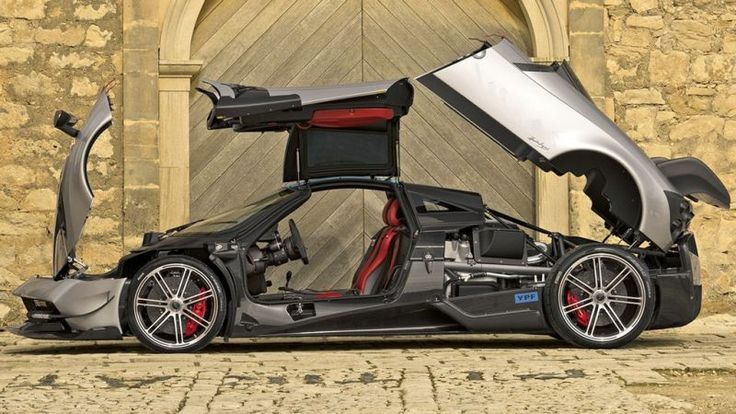 """Pagani Huayra BC $2.6m  The Pagani Huayra is an Italian mid-engined sports car produced by Pagani. Succeeding the company's previous offering, the Zonda, it costs €1,198,000 ($1,314,000), (£910,905). It is named after Huayra-tata, a Quechua wind god. The Huayra was named """"The Hypercar of the Year 2012"""" by Top Gear magazine  by Richard Hammond on Top Gear. The Huayra is currently the fastest road car to go around the Top Gear Test Track, setting a time of 1:13.8."""