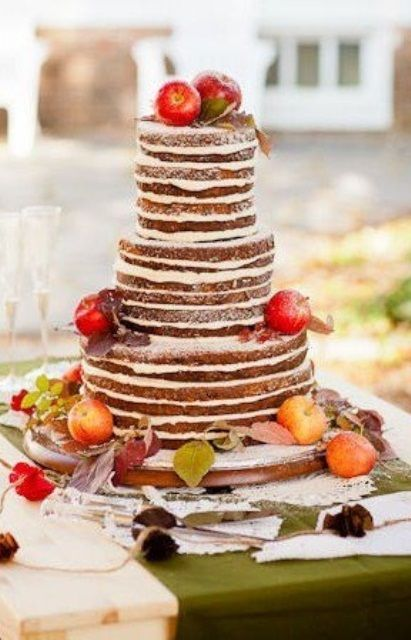 64 Awesome Fall Wedding Cakes | Weddingomania - interesting...