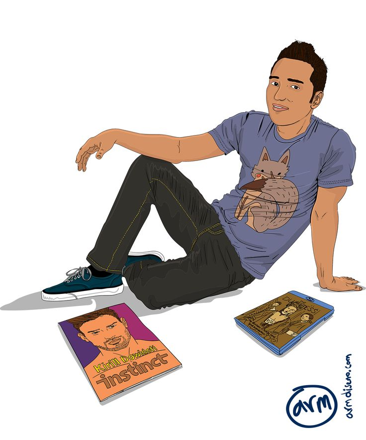 My friend Andres Felipe. My friends are very important for me, I left Colombia 3 years and a half ago, to show my love for them I wanted to create an illustration of all of us together. I worked a...