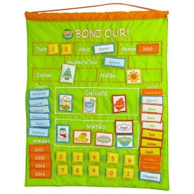 Calendrier d'activités en tissu Baby Smile : King Jouet, Premiers apprentissages Baby Smile - Jeux et jouets éducatifs