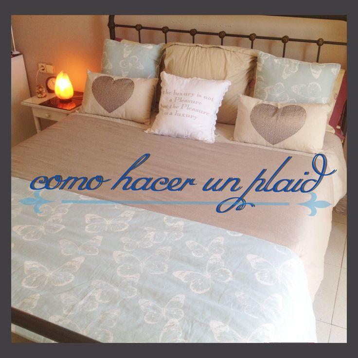 Como hacer un cubre pies para la cama plaid cortinas y - Como hacer un cabezal para la cama ...