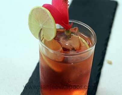Hibiscus Ice Tea - Yes you can consume hibiscus flower – this tea proves it.