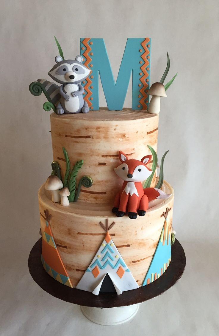 Custom cakes fox cake baby shower cakes cake
