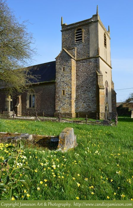 St Mary Magdalene Church, Stowell, UK photographed by Artist and Photographer Candice Jamieson