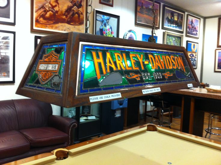 Harley Davidson Pool Table Light We Want This Harley