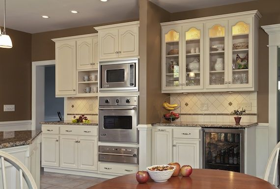 Kitchen transformed from tired to tremendous ovens for Cathedral arch kitchen cabinets