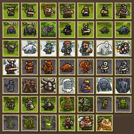 Kingdom Rush Enemies - Soldiers  Tanks