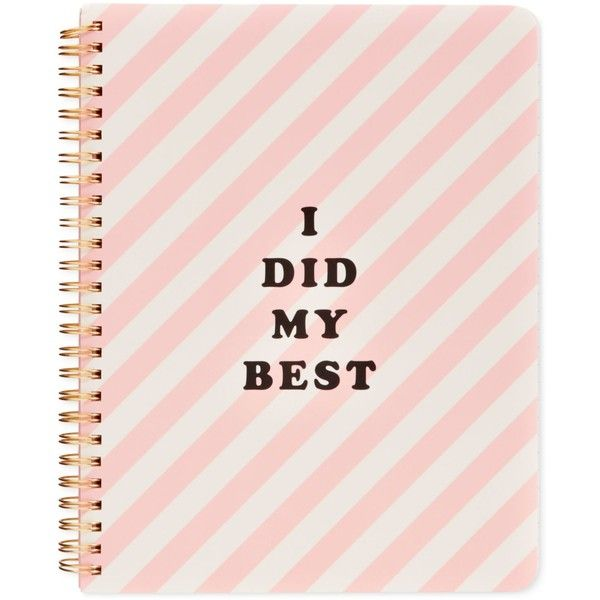 ban.do I Did My Best Mini Notebook found on Polyvore featuring home, home decor, stationery and pink