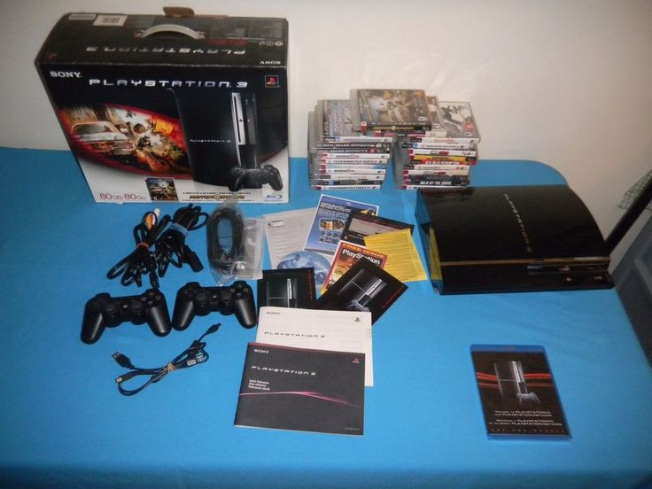 Sony PlayStation 3 Backwards Compatible 80gb Console PS3 System Motorstorm #Sony