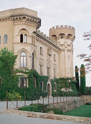 Elegant Barcelona Destination Castle Wedding II via oncewed.com