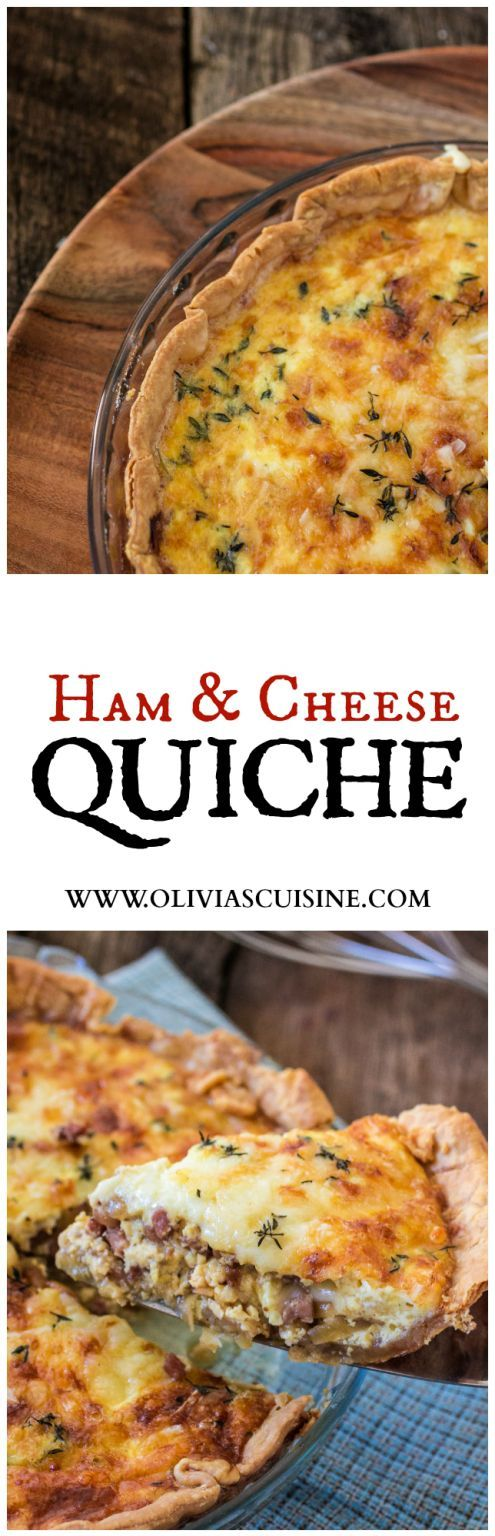 Ham and Cheese Quiche | http://www.oliviascuisine.com | This delicious ham and cheese quiche will be the star of your next brunch! Made with @BoarsHead SmokeMaster Beechwood Smoked™ Black Forest Ham!