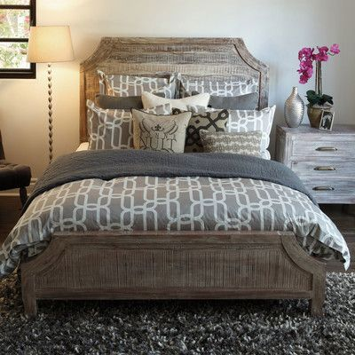 Rustic Wooden Panel Bedroom Set from Wayfair A beautiful, fresh clean look combined with graceful lines creates the perfect blend for any home whether modern or traditional.