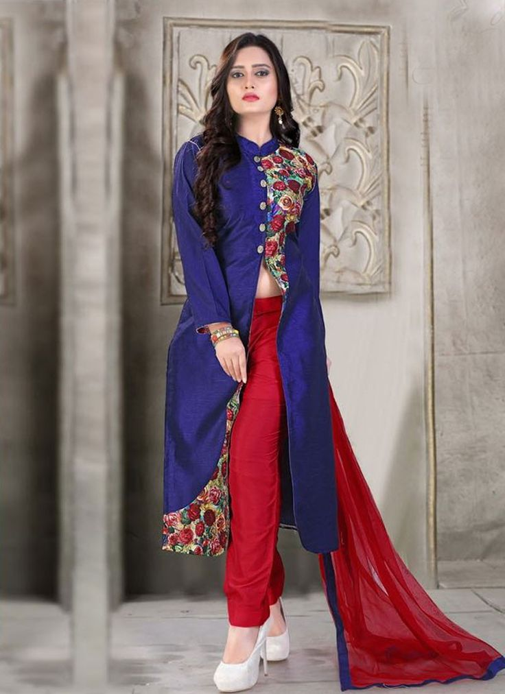 buy saree online Blue Colour Banglori Silk Party Wear Suit Buy Saree online - Buy Sarees online