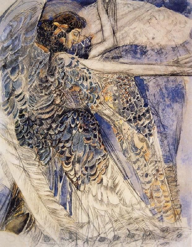 The angel having six wing 1904 MIkhail Vrubel