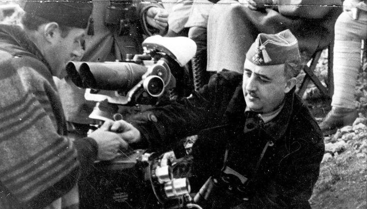 Francisco Franco, en la Batalla del Ebro, 1938.
