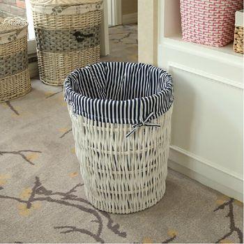 vuile kleren mand met de hand gemaakte witte ronde decoratieve rieten opslag wasmand voor thuis organisatie beste cadeau