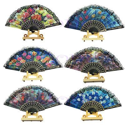Cool Chic Spanish Flower Lace Folding Hand Dancing Wedding Party Decor Fan