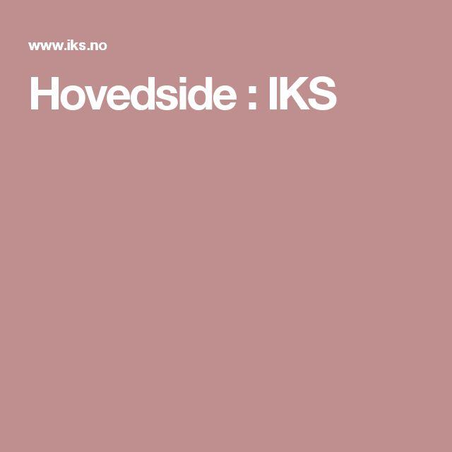 Hovedside : IKS