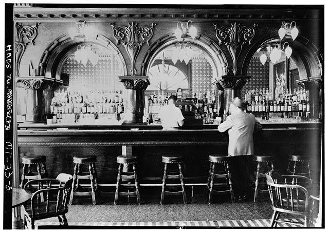ORIGINAL BAR - Montana Hotel, Park Street & South Main, Anaconda, Deer Lodge County, MT Hotel completed 1889