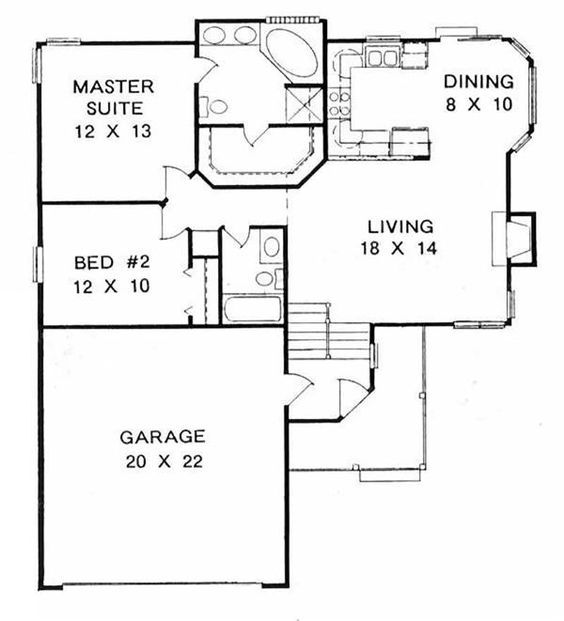 Small House Plans Under 1100 Square Feet