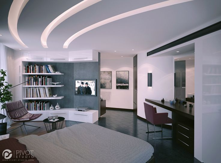 interior design and 3d visuals of contemporary bedrooms recessed ceiling lightsgypsum ceilingliving room