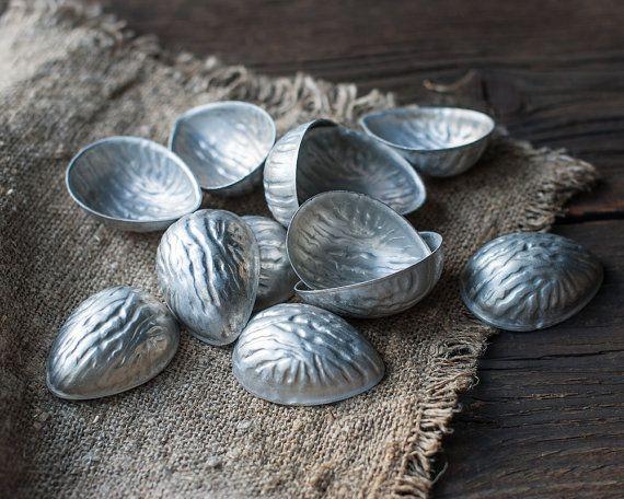 Set of 12 Vintage Nut Baking Molds Biscuit or by OldTimeStories