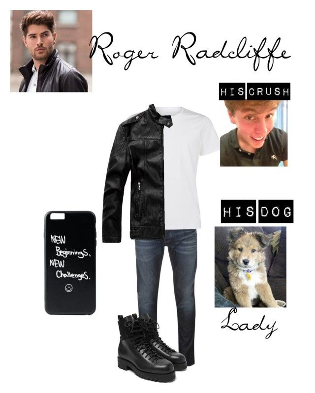 """""""Roger Radcliffe"""" by randomfangirllookingforaspark ❤ liked on Polyvore featuring Armani Jeans, La Perla, FEIT, Sanders, men's fashion and menswear"""