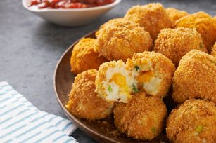 Cheesy potato croquettes  #recipe #cheese #potato