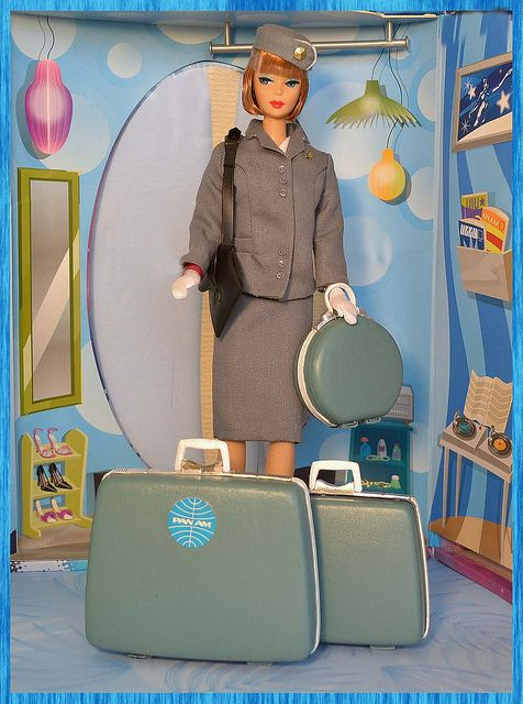 Vintage Barbie / Pan Am - I was so jealous of my aunt (4 years older), because she had this and the airplane!