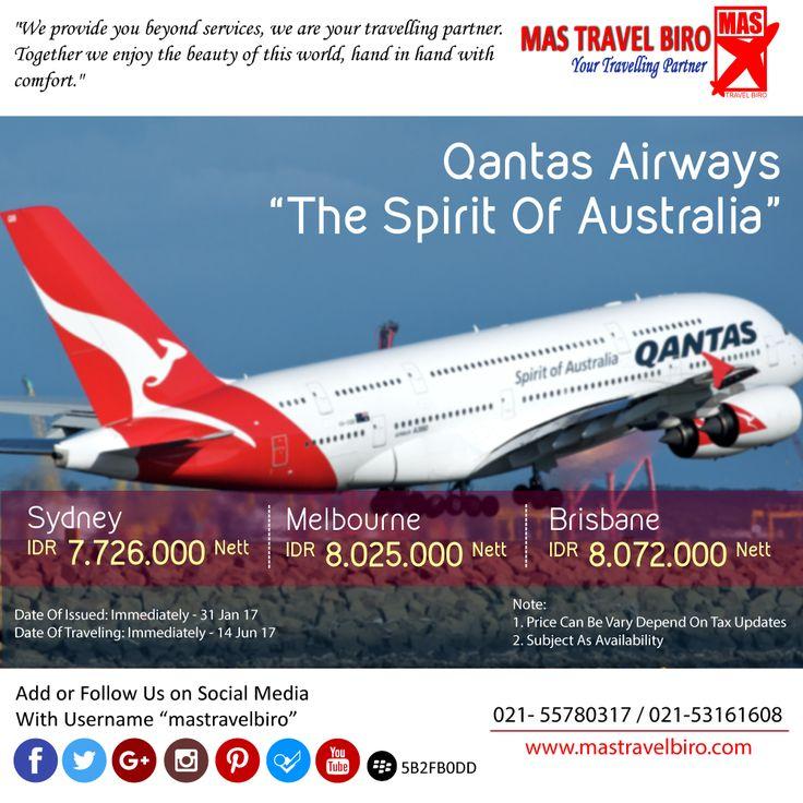 Flight to Sydney Only IDR 7.726.000 Nett PP . Book Now ! :) #mastravelbiro #ticketpromo #australia