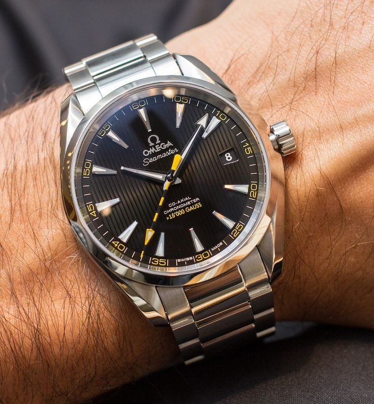 """Hands-On With Omega's Aqua Terra >15,000 Gauss Watch by James Stacey - Today on aBlogtoWatch.com """"We covered news of Omega's anti-magnetic 8508 calibre when it was announced back in January. The movement was shown fitted in an Aqua Terra model which is now available for purchase as the Omega Aqua Terra >15,000 Gauss. Using a special version of Omega's co-axial 8500 series, the >15,000 Gauss is the world's first completely anti-magnetic watch..."""""""