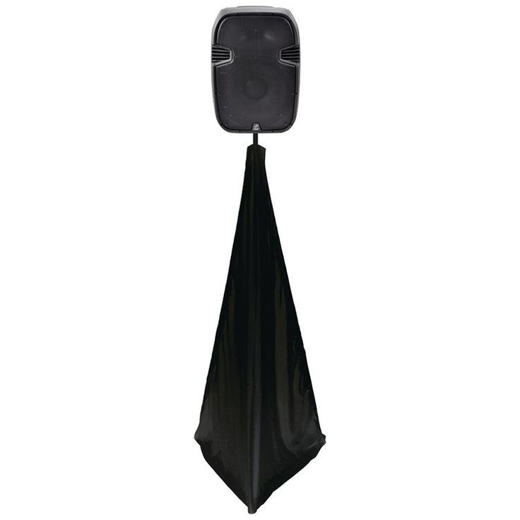 PYLE PRO PSCRIM2B 2-Sided DJ Speaker/Light Stand Scrim (Black)