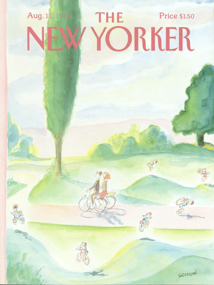 "Cover Story: J. J. Sempé's ""Under the Same Hat"" - The New Yorker"