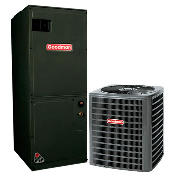 2 5 Ton A C Goodman Gsz140301 14 Seer Central Air Conditioner Heat Pump System Heat And Cool In 2020 Heat Pump System Central Air Conditioners Central Air