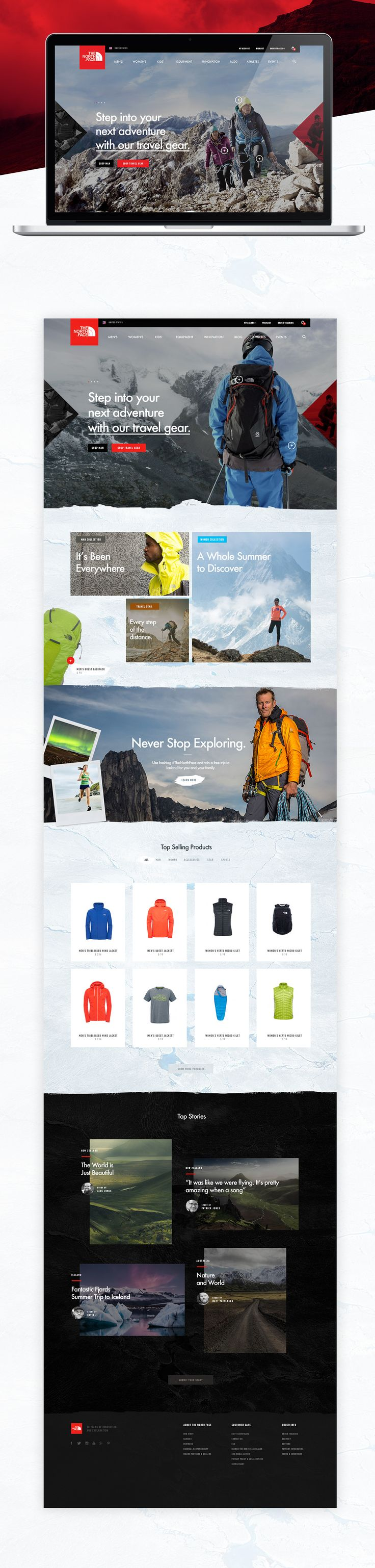 Interactive WebGL experience and e-commerce website design pitch for The North Face company. Made in late 2015.